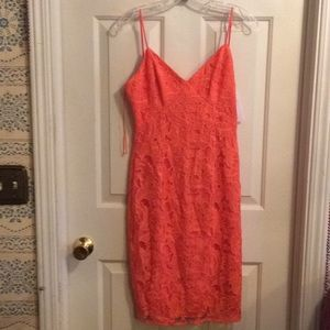 Brand new coral dress from guess